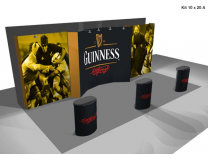 Pop Up Displays | 20' VBurst Pop Up Display Kit A