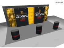 Pop Up Displays | 20' VBurst Pop Up Display Kit E
