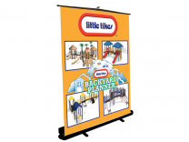 Grandstand Retractable   Banner Stand