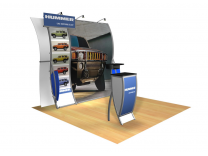 Issa - Perfect 10 Trade Show Displays | Custom Modular Hybrid Displays