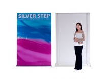 "60"" Silver Step Retractable Banner Stand 