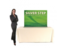 SilverStep 48 Inch Banner Stand Table Top