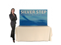 SilverStep 60 Inch Banner Stand Table Top