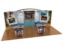 Custom Modular Hybrid Displays | VK-2066 Hybrid Booth 20 Ft Visionary Designs