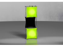 Pop Up Displays | Xpressions 1x3 with LED Lightboxes