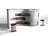 20 Ft Serpentine Pop Up Displays w/Photo Mural Panels | Pop Up Display