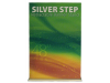 "48"" Silver Step Retractable Banner Stand 