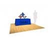 Pop Up Table Top Display | Kit B 3Quad SalesMate