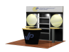 Custom Modular Hybrid Displays | VK-1047 10 Ft Visionary Designs