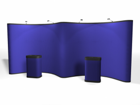 20' Gullwing Fabric Pop Up Displays | Pop Up Display