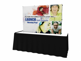 Trade Show Displays | 8' VBurst Curved Frame Table Top