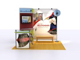 Trade Show Displays | VK-1069 10 Foot Visionary Designs