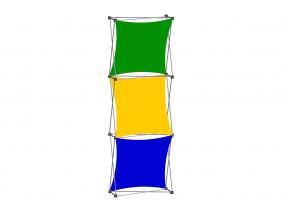 Pop Up Table Top Display | XSNAP 1x3 C
