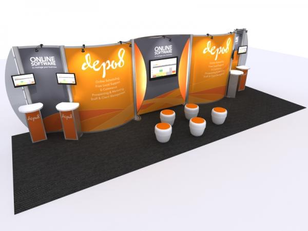 Visionary Designs Custom Hybrid Trade Show and Conference Exhibit VK-3003