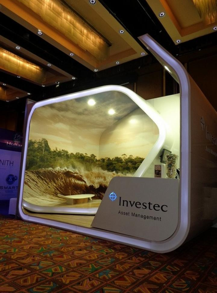 Investec trade show & conference exhibit