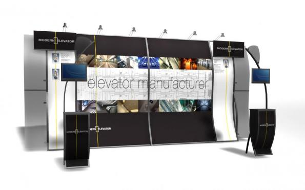 Modern Elevator Perfect 10 Trade Show Display