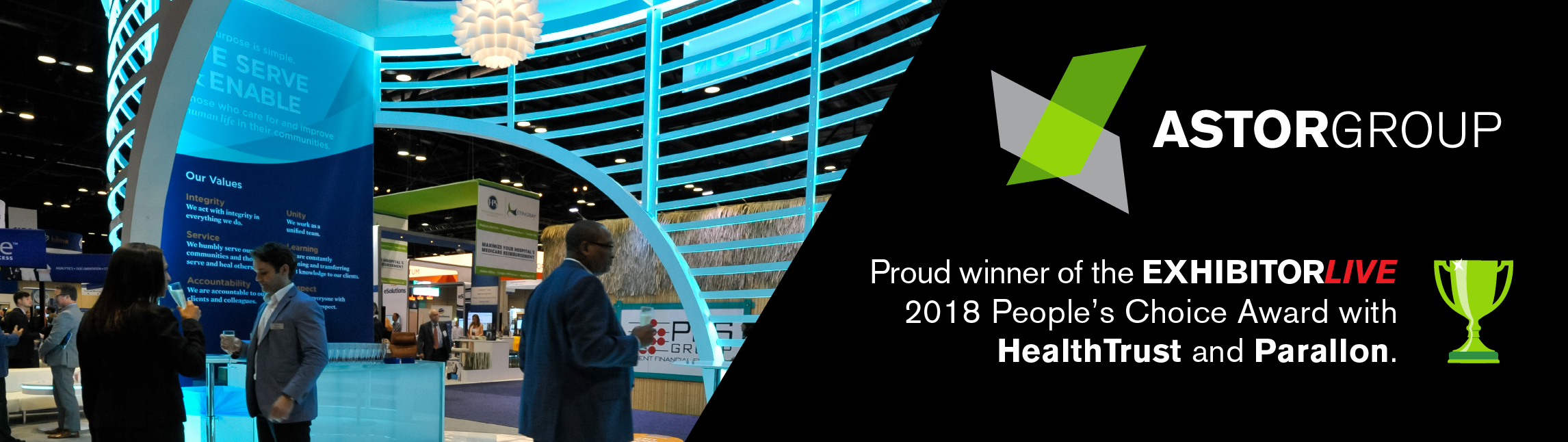 Astor Group: Proud winners of the EXHIBITORLIVE 2018 People's Choice Award.